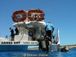 Caicos Adventures Dive Boat by Steven Daniel 